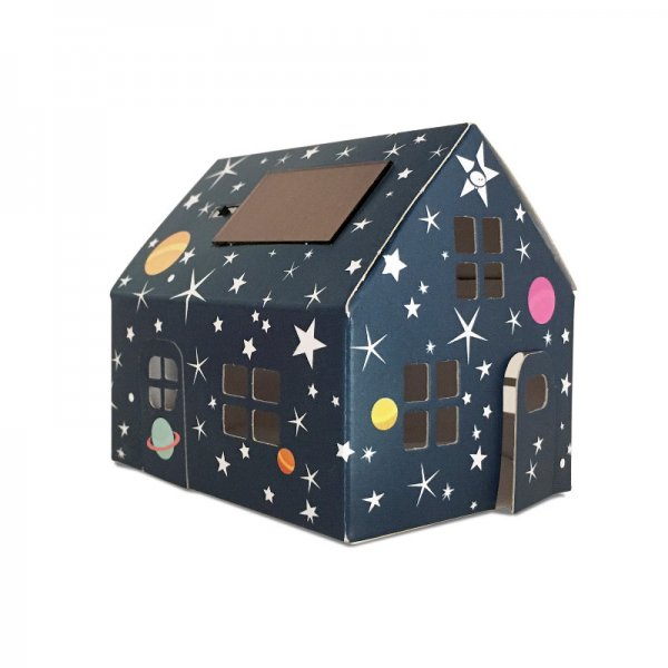 Litogami - Casagami Papierhaus mit Solar LED Beleuchtung Starry Night