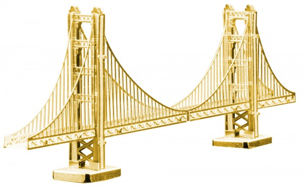 Metal Earth - Golden Gate Bridge Rare Gold Edition