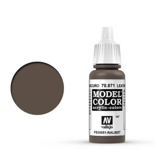 Vallejo - Modellfarbe Braunes Leder (Leather Brown) 17 ml