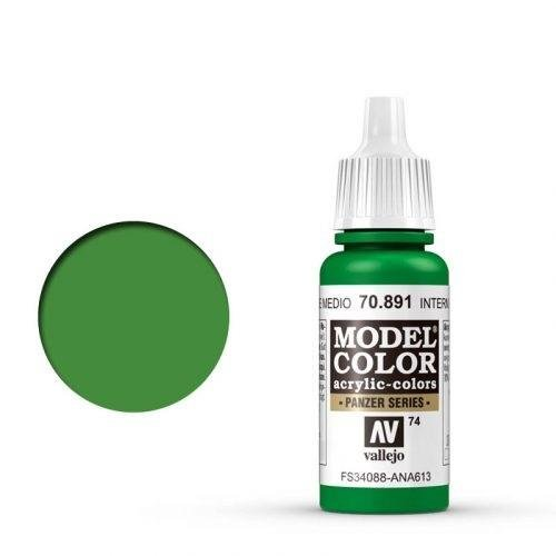 Vallejo - Modellfarbe Lichtgrün (Intermediate Green) 17 ml